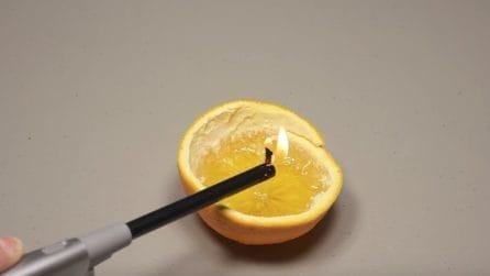 Realizza una candela usando un'arancia: l'idea originale
