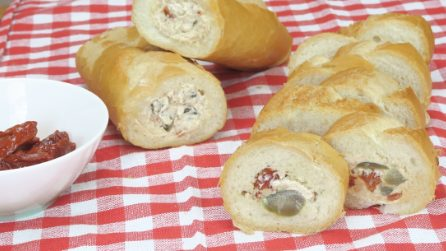 Baguette farcita, l'idea sfiziosa per un aperitivo originale!