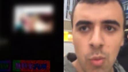 Porno sul maxischermo in strada a Tokyo, il turista americano mostra il video