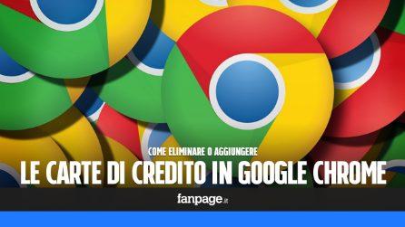 Eliminare (o aggiungere) una carta di credito a Google Chrome