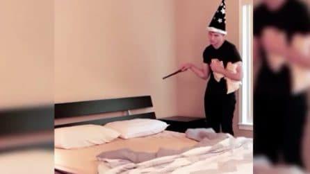 """Rifare il letto con un pizzico di """"magia"""": non crederete ai vostri occhi"""