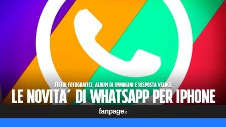 WhatsApp: arrivano i filtri fotografici, gli album di foto e la risposta rapida