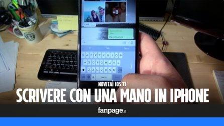 Novità iOS 11: arriva la tastiera per scrivere con una mano in iPhone