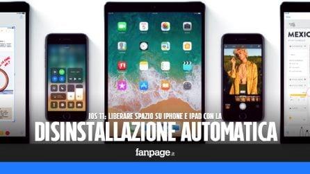Liberare spazio iPhone con la disinstallazione automatica delle app in iOS 11