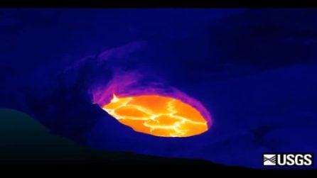 Il lago di lava del vulcano Kilauea: le immagini sono mozzafiato