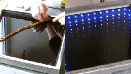 Come costruire uno specchio infinito a LED