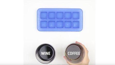 Non solo cubetti di ghiaccio: ecco come fare e usare quelli di caffè, vino e limone
