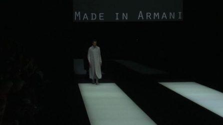 """Milano Moda Uomo, va in scena il """"Made in Armani"""""""