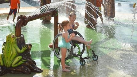 È il primo acqua park per disabili, ogni spazio è costruito su misura per renderli felici