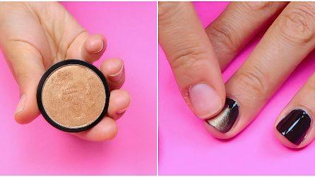 Mette l'ombretto sulle unghie: il trucchetto per una perfetta nail art