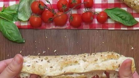 Baguete recheada: a ideia diferente para um aperitivo legal!
