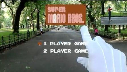 Gioca a Super Mario con la Realtà Aumentata: quello che vede è spettacolare