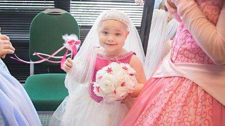 Realizza il sogno della figlia malata di cancro terminale: la piccola si sposa a 5 anni