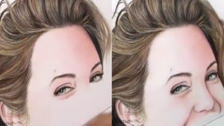 Disegna con i pastelli e crea il volto di una delle attrici più famose al mondo