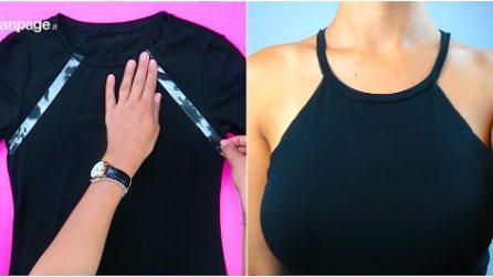 Come trasformare una semplice t-shirt in un top