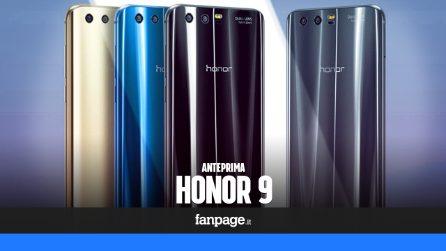 Anteprima Honor 9: caratteristiche tecniche e prezzo in Italia