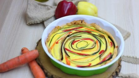 Vegetable cake: colorful and tasty