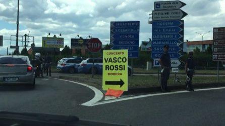 Concerto Vasco Rossi, traffico a Modena per il grande concerto