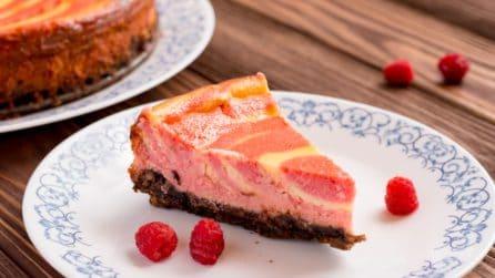 Zebra raspberry cake