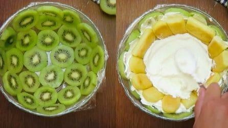 Kiwi zuccotto: the fresh and yummy summer dessert!