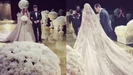 La sposa sembra una principessa: il matrimonio favoloso da 10 milioni di dollari