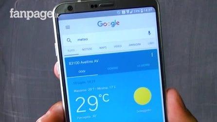 Come attivare l'app (segreta) del meteo di Google
