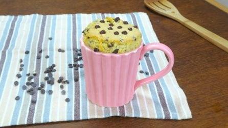 Torta cookie in tazza: il dolce monoporzione pronto in pochi minuti!
