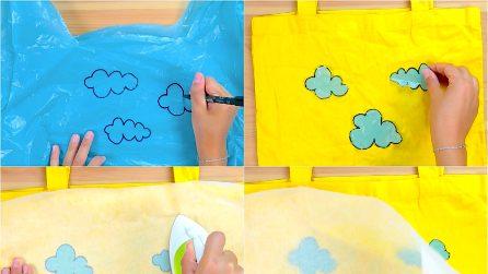 She cuts a plastic bag and uses an iron: a creative idea