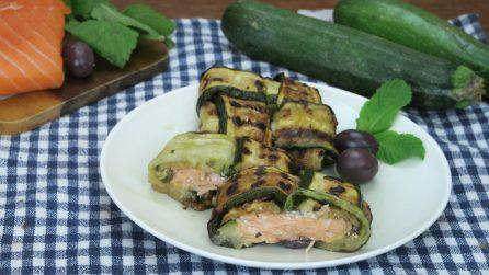 Fagottini di salmone e zucchine: il piatto gustoso, ma light perfetto per l'estate!