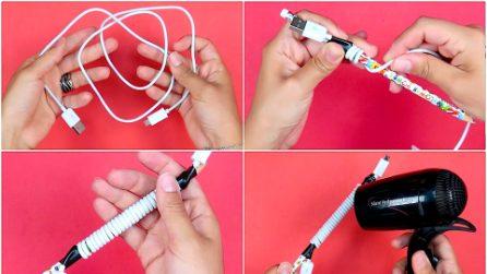 Arrotola il cavetto attorno alla matita: ecco cosa accade quando passa il phon