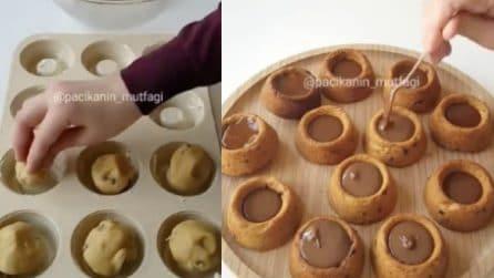 Come realizzare tazzine di cookie al cioccolato