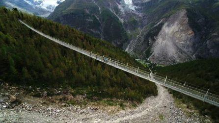 Svizzera, inaugurato il ponte sospeso più lungo al mondo