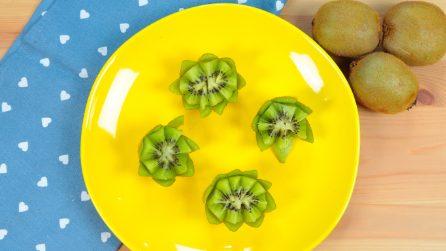 Come realizzare dei fiori con un kiwi