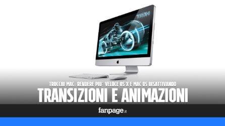 Trucchi Mac: velocizzare macOS (e OS X) disattivando trasparenze e animazioni