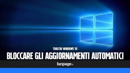 Bloccare gli aggiornamenti in Windows 10