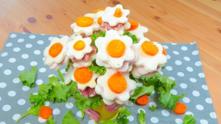 How to make a flower bouquet with sliced bread