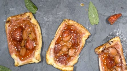 Strawberry and Rhubarb Pastries