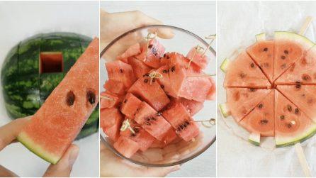 Tre idee geniali per servire l'anguria: sorprenderete tutti!