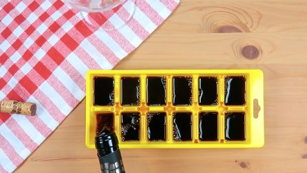 Wine in the ice cube tray: the perfect idea for the summer