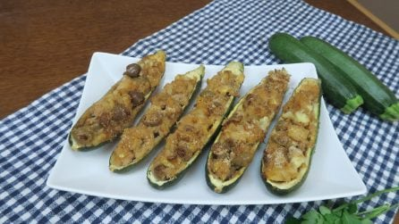 Abobrinha recheada com atum, a ideia para o jantar que seus convidados irão amar