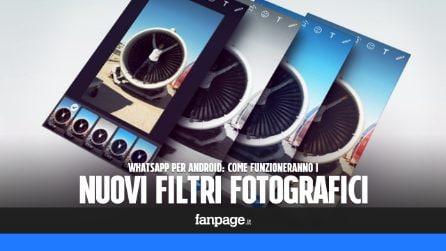 Aggiornamento WhatsApp Android: come funzioneranno i nuovi filtri fotografici