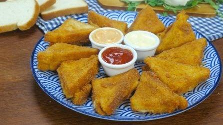 Triangoli di mozzarella in carrozza: la ricetta facile e gustosa!