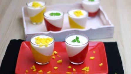 Watermelon and mango panna cotta: a tasty summer dessert