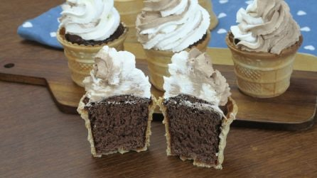Muffin in an ice cream cone: a unique and tasty dessert!