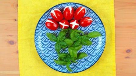Tulipani di pomodoro e formaggio: la ricetta fresca per l'estate