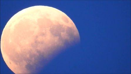 L'eclissi parziale della Luna Storione: le immagini spettacolari del nostro satellite