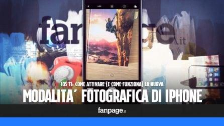 Trucchi iPhone: come attivare la nuova modalità di scatto in iOS 11