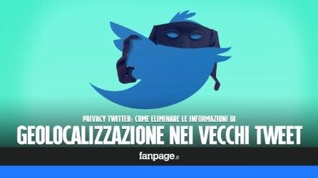 Privacy Twitter: eliminare le informazioni di localizzazione dai vecchi Twteet