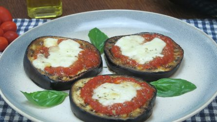 Eggplant mini pizzas: Easy, quick and tasty!