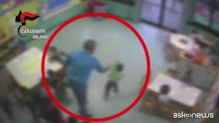 Pero, maltrattamenti all'asilo: schiaffi e calci a bambini di due anni, arrestato maestro